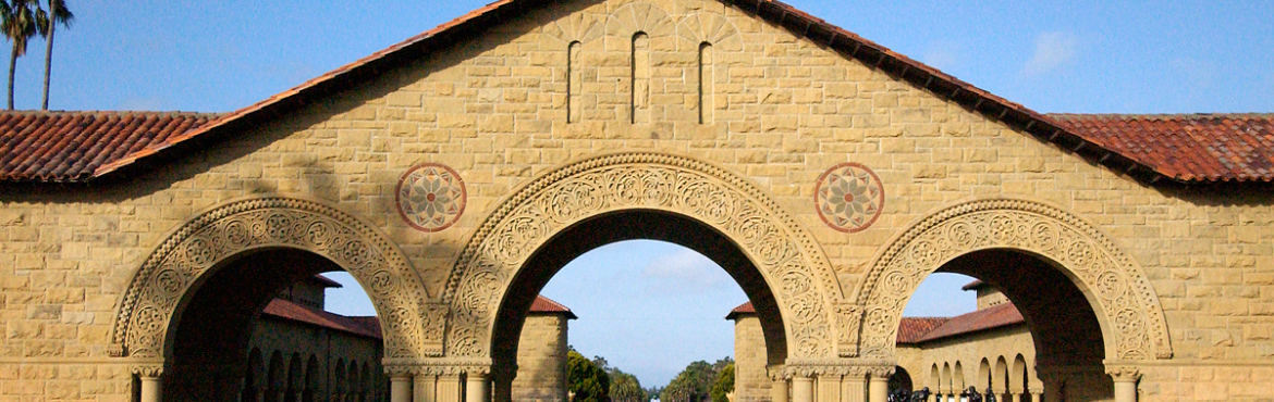 Stanford's Main Quad and Memorial Court